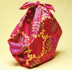 How to Make a Bottle Carrier by yomissnicole, etsy: Furoshiki is a traditional Japanese wrapping technique that dates back as far as the eighth century.