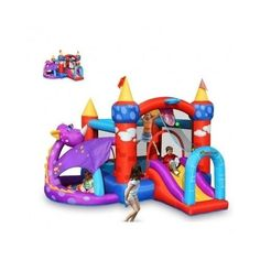 Inflatable-Bounce-House-Bouncy-Bouncer-Jumper-Kids-Playground-Slide-Party-Castle