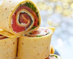 Mini wraps de tortilla au saumon express à picorer Mini Tacos, Tortilla, Wrap Sandwiches, Appetisers, Quesadilla, Smoothies, Tasty, Healthy Recipes, Cooking