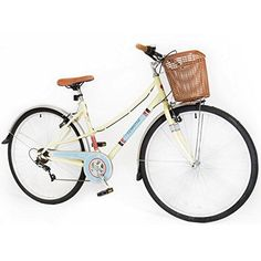 700c Classic Womans Ladies BIKE - Hybrid retro Basket Commuter Bicycle 6 Speed #bicycleaccessories