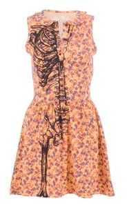 Oh shit i love this! IRON FIST Wishbone Coral dress L RRP cute skeleton ribs tattoo emo Skeleton Dress, Cute Skeleton, Dress Clothes, Dress Up, Vestidos Color Coral, Outfits For Teens, Cute Outfits, Skull Fashion, Coral Dress