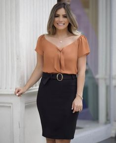 Image may contain: 1 person, standing Blouse Styles, Blouse Designs, Cute Casual Outfits, Casual Dresses, Blouses For Women, Pants For Women, Career Wear, Indian Designer Wear, Office Outfits