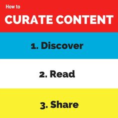 From the Guide to Curate Content by Kevan Lee (tools suggested: Pocket and Buffer) -