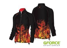 GFORCE Kit designs that are ON FIRE! This unique design will ensure your team looks too hot to handle when it comes to match day! #dyesublimation #sports #teamwear #customkit #dyesub #sportswear #onfire #flames #unique