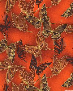 Fancy Flight - Cloisonné Butterflies - Spiced Orange/Gold