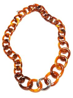 Kara Ross for Doncaster Twisted Tortoise Link Necklace #Doncaster #ChainReaction @Kara Ross NY