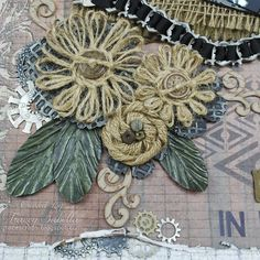 HER BLOG IS AMAZING!!!!!!!!!!!  Garden of Grace: Wonderful Father and Twine Flower Tutorial Update for Really Reasonable Ribbon