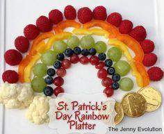 St. Patrick's Day Rainbow Platter: Fun Food for Kids!   The Jenny Evolution