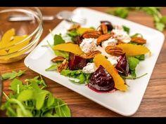 Balzsamos-narancsos céklasaláta recept kecskesajttal, dióval   APRÓSÉF.HU - receptek képekkel Salads, Mexican, Beef, Cheese, Ethnic Recipes, Food, Dressing, Youtube, Essen