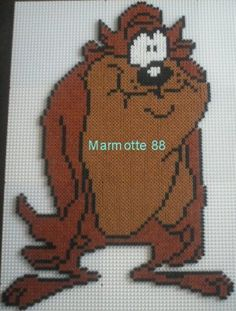 Tasmanian Devil Looney Tunes hama beads by marmotte88130