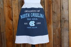SALE University of North Carolina UNC Tar Heels Skirt by Jill Be Nimble on Etsy.  Great UNC gameday skirt or gameday outfit.  Perfect for UNC tailgate!