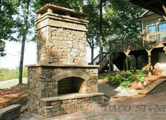 Do-it-yourself fireplace & Pit kits. Perfect for your outdoor living area Outside Fireplace, Porch Fireplace, Fireplace Stone, Outdoor Fireplaces, Nest, Dreams, Home Decor, Nest Box, Decoration Home