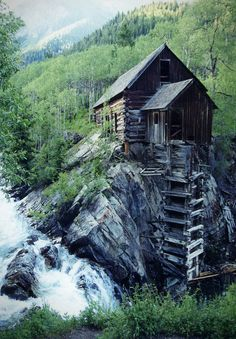 rustic home built on cliff