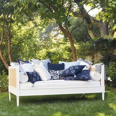 Soak up the sun outdoors with our Harbor Cane Sofa Outdoor Sofa, Outdoor Living, Outdoor Decor, Outdoor Rooms, Best Daybeds, Cane Sofa, Daybed With Storage, Modern Daybed, Cover