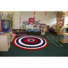 Kids' Concentric Accent Rug