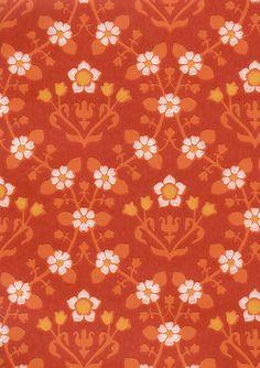 Kamomilla (Tapettitehdas Pihlgren ja Ritola) Wallpaper Designs, Wallpaper Ideas, Designer Wallpaper, Lace Print, Textile Prints, Flora, Stamps, Backgrounds, Mid Century