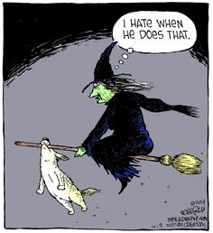 Witch hitch. Speed Bump for 10/9/2014 | Speed Bump | Comics | ArcaMax Publishing