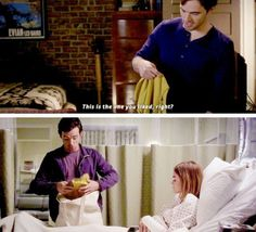 He brought her the shirt she used to sleep in when they were together.......I'm okay....... #Ezria