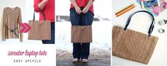 EVERYDAY SEW: ΤΣΑΝΤΑ LAPTOP Burlap, Laptop, Reusable Tote Bags, Sewing, Dressmaking, Hessian Fabric, Couture, Stitching, Sew