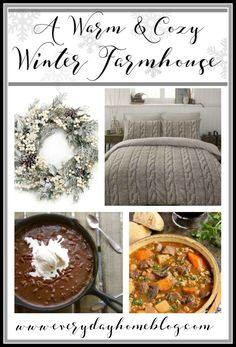 Winter time does not have to be dismal and depressing if you embrace the moments and celebrate the serenity and the peacefulness. Enjoy these inspirational pics of A Warm & Cozy Winter Farmhouse.