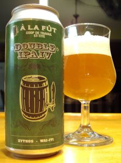 Double IPA IV - Microbrasserie À La Fût via craftbeerquebec.ca #ipa #doubleipa #ipa #beer #bière #microbrasserie #alafut