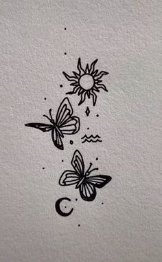 Smal Tattoo, Kritzelei Tattoo, Tattoo Drawings, Body Art Tattoos, Doodle Tattoo, Tatoos, Cute Tiny Tattoos, Dainty Tattoos, Little Tattoos