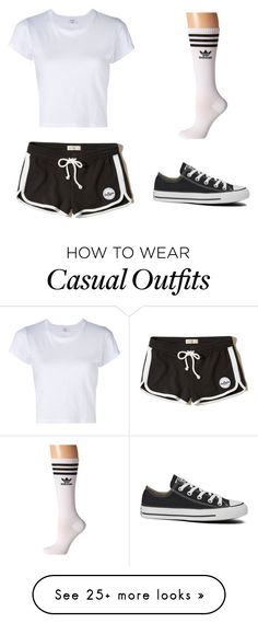 """""""casual"""" by misomegann on Polyvore featuring Hollister Co., RE/DONE, Converse and adidas"""