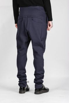 ZIO SONGZIO Low Crotch Sweatpant in Navy | Autograph Menswear