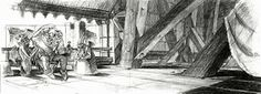 Living Lines Library: The Hunchback of Notre Dame (1996) - Storyboards & Layouts