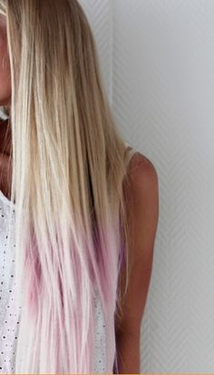 Light Pink Dip-Dye! Looks So Good On A Blonde.