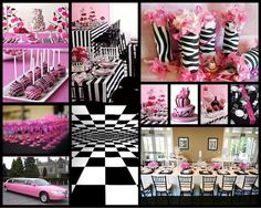 Pink And Black Moulin Rouge party idea   French Couture - pink and black theme   Event Experts