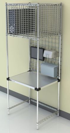 Metro Managers Work Station, 30 Inches Wide With Security Overhead Storage  Is Ideal For Cross Function Tasks In A Small Footprint