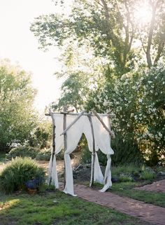 i like this but it would need to be bigger for the entrance area Wedding Arbors, Yard Wedding, Woodsy Wedding, Wedding Sets, Wedding Styles, Wedding Decor, Wedding Dreams, Wedding Reception, Wedding Stuff