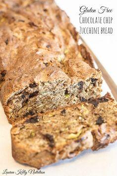 Gluten Free Chocolate Chip Zucchini Bread | Lauren Kelly Nutrition