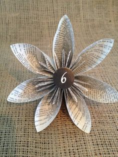 6 inch Origami table number