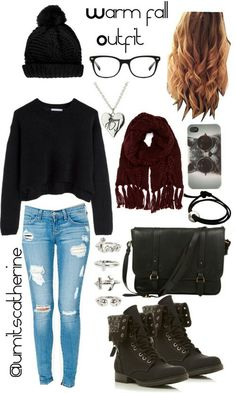 Definitely my style! I ♡ outfits with beanies Warm Fall Outfits, Cool Outfits, Casual Outfits, Look Fashion, Teen Fashion, Fashion Outfits, Mode Swag, Beanie Outfit, Quoi Porter
