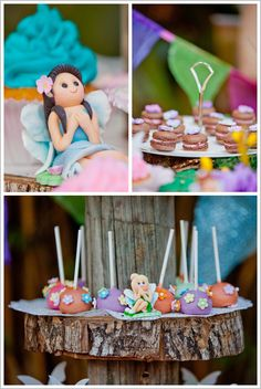 Fairy Birthday Party in Pixie Hollow: the most adorable fondant fairies!