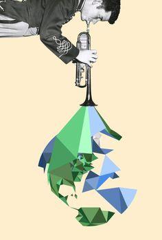 Ashley Joseph Edwards collages jazz geometry