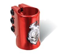 Madd Gear MGP Red Hot Head Water Decal Oversize Triple Scooter Clamp