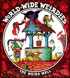 """thebristolboard:  Gallery of """"World Wide Weirdies"""" byKen Reidfrom Whoopie!,a British children's comic published by IPC from 1974-1985. Replacing the """"Creepy Creations"""" features from Shiver and Shake (which merged with Whoopie! in 1974), many of these back cover illustrations were inspired by readers who sent in spooky names for famous landmarks for Reid to illustrate. You can see lots more here."""