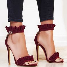 'Florence' Frill Detail Heels