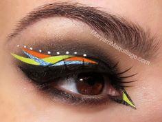 Bird Eye Makeup On my right eye :)