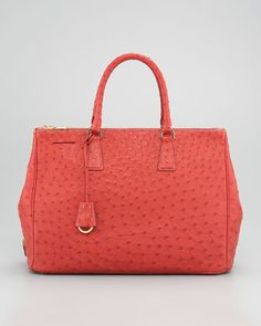 Ostrich Executive Tote by Prada at Neiman Marcus.