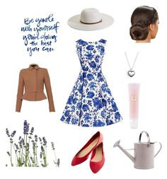 """""""Sunday"""" by annabird23 on Polyvore featuring Burberry, Potting Shed Creations, Melissa Odabash, Pandora, Lancôme, women's clothing, women's fashion, women, female and woman"""