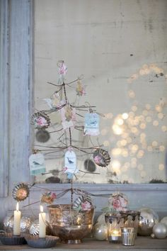 Tilda Christmas tree Fir wire, to decorate card, labels, small structures in tissues ...