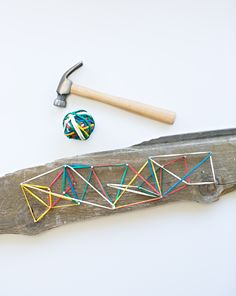 Easy DIY Wooden Geoboard for Kids.