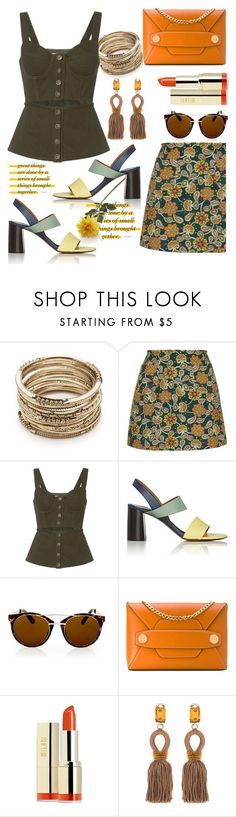 """""""Untitled #639"""" by pesanjsp ❤ liked on Polyvore featuring Sole Society, Motel, self-portrait, Chloé, Topshop, STELLA McCARTNEY, Milani, Oscar de la Renta and Crate and Barrel"""