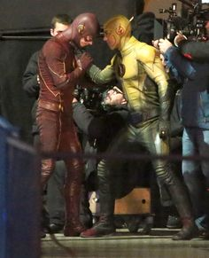 The Flash vs Reverse Flash filming