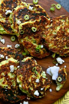 Mucver (pronounced moosh-vair) are delicate, crisp zucchini pancakes popular in Turkey. This version has not just shredded zucchini, but also tiny clouds of feta and a sprinkling of minced fresh dill and scallions. They are crisp on the outside, tender within and subtly herbaceous. (Jim Wilson/NYT)
