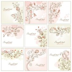 abstract floral swirls